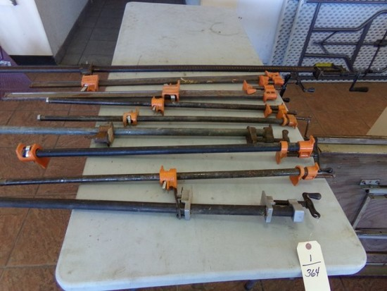 9 PIPE CLAMPS BETWEEN 3 AND 6 FEET