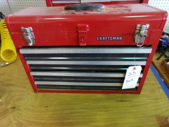 CRAFTSMAN TOOL BOX LIFT TOP FOUR DRAWERS APPROX 20 1/2 INCH X 14 INCHES