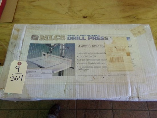 NEW IN BOX MLCS NEW AND IMPROVED DRILL PRESS TABLE 12 X 24 INCH DRILL PRESS