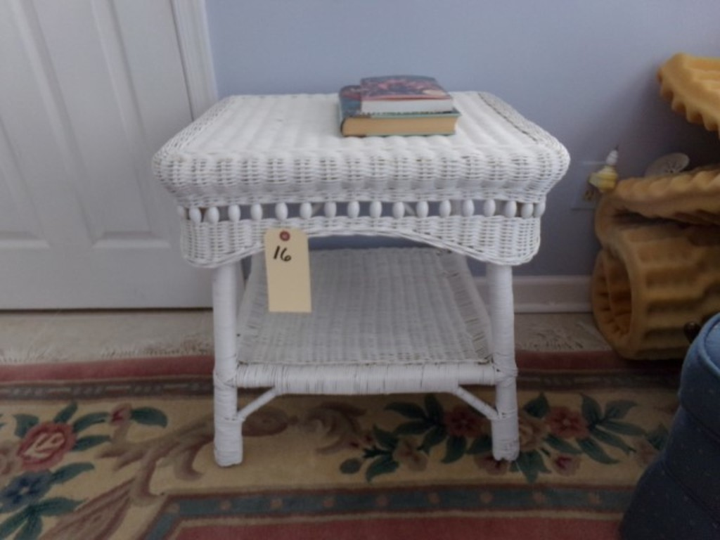 Wicker End Table With Two Tiers Rox 22 Inch High X Wide Mir