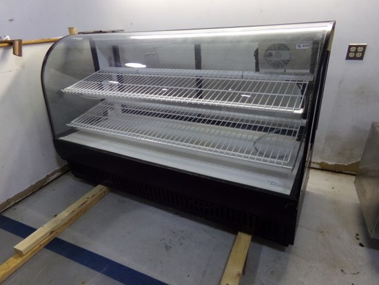 TRUE MODEL TCTG77 REFRIGERATED DISPLAY CASE WITH BACK DOORS