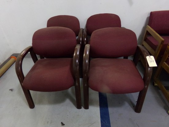 SET OF FOUR PADDED CHAIRS