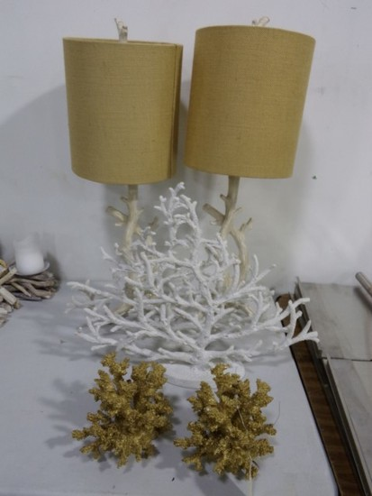 CORAL DECORATIVES AND CORAL LAMPS