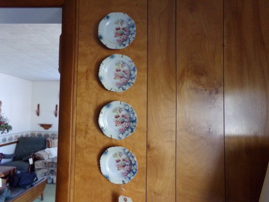 TWO SETS OF SMALL PLATES FLORAL AND FLO BLUE DESIGN