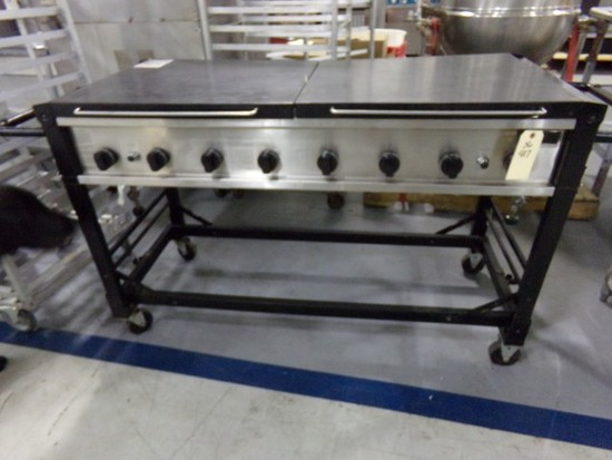 PROFESSTIONAL 56 X 24 PORTABLE RADIANT CHARBROILER PROPANE WITH SPARK LIGHT