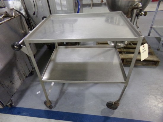 STAINLESS STEEL CART ON CASTERS