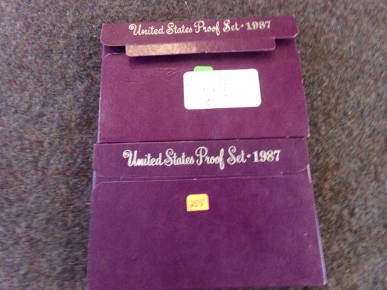 2 UNITED STATES PROOF SET 1987