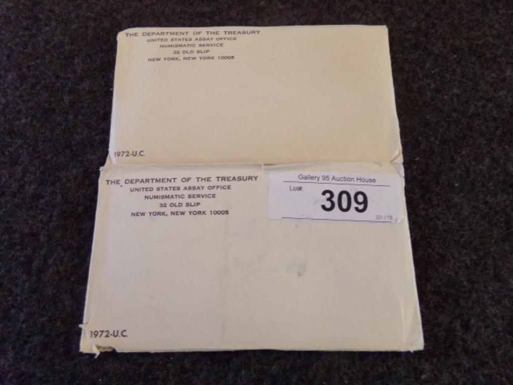 2 TREASURY DEPARTMENT UNITED STATES ASSAY OFFICE  1972-U.C
