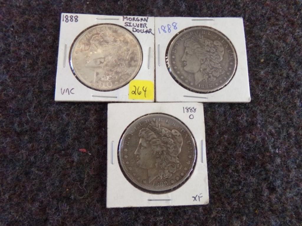 1888 5 MORGAN DOLLARS