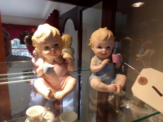 SIX PIANO BABY STYLE FIGURINES