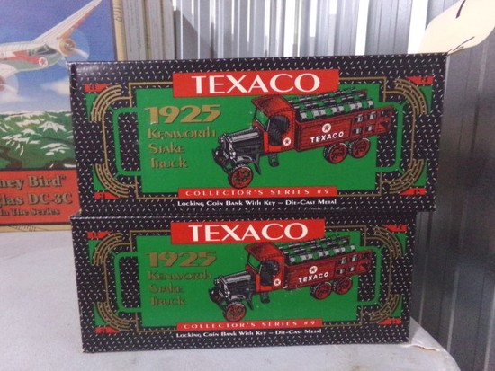 SIX NEW IN BOX TEXACO 1925 KENWORTH STAKE TOY TRUCK COLLECTORS SERIES LOCKI