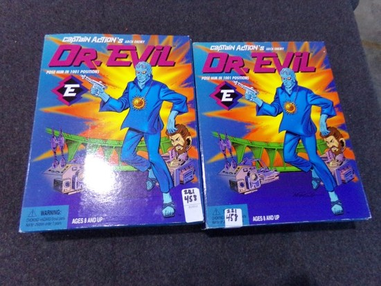 TWO CAPTAIN ACTIONS ARCH ENEMY DR EVIL NEW IN BOX