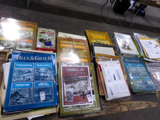 TABLE LOT WAR GAMES TO INCLUDE MODERN BATTLES II FOUR BATTLES IN NORTH AFRI