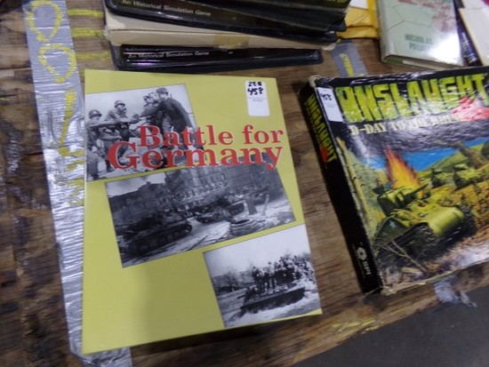 TABLE LOT WAR GAMES TO INCLUDE BATTLE FOR GERMANY ONSLAUGHT D DAY ERIC GOLD