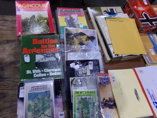 TABLE LOT BATTLE GAMES TO INCLUDE AGINCOURT BATTLE FOR THE ARDENNES NATO TH