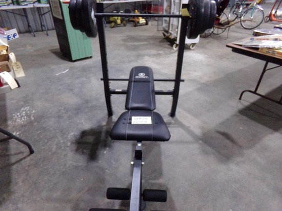 MARCY DIAMOND ELITE BENCH PRESS AND WEIGHTS