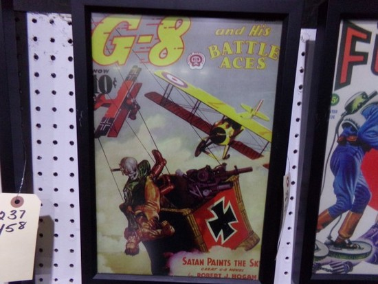 G8 BATTLE ACES REPRODUCTION FRAMED POSTER APPROX 17 X 12