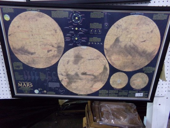 THE RED PLANET MARS BY NATIONAL GEOGRAPHIC FRAMED APPROX 40 X 23