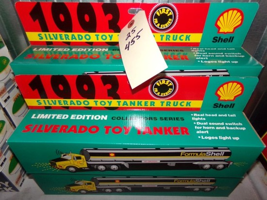 FIVE NEW IN BOX 1993 SILVERADO TOY TANKER TRUCKS SHELL 1ST IN SERIES LIMITE