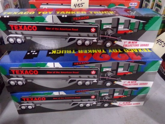 FIVE NEW IN BOX 1994 TEXACO TANKER TRUCKS 1ST IN NEW COLLECTOR SERIES