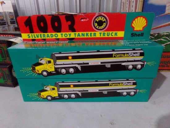 SIX NEW IN BOX 1993 SILVERADO TOY TANKER TRUCKS SHELL 1ST IN SERIES LIMITED