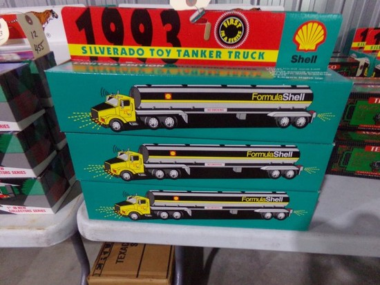 SIX NEW IN BOX SILVERADO 1993 TOY TANKER TRUCKS 1ST IN SERIES BY SHELL LIMI