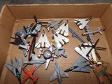 BOX LOT OF MINIATURE FIGHTER PLANES APPROXIMATELY 15