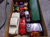 BOX LOT MODEL CARS INCLUDING THUNDERBIRD 49 FORD 007 ASTON MARTIN TOOTSIE T
