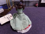 ANTIQUE DOUBLE DOLL TOP IS AFRICAN AMERICAN AND BOTTOM IS WHITE