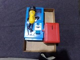 BOX LOT WITH PLANTERS PEANUT DISPENSER AND TOY SAFE