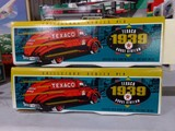 SIX NEW IN BOX TEXACO 1939 DODGE AIRFLOW LOCKING COIN BANK WITH KEY DIE CAS
