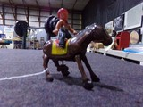 TIN WIND UP HORSE WITH RIDER MADE IN OCCUPIED JAPAN