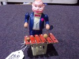 MAN PLAYING XYLOPHONE WIND UP MADE IN OCCUPIED JAPAN