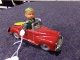 WIND UP TIN TOY MAN DRIVING CAR MADE IN OCCUPIED JAPAN