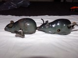 PAIR OF TIN TOY WIND UP MICE MADE IN OCCUPIED JAPAN