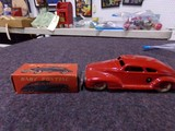 TWO TIN CARS MADE IN OCCUPIED JAPAN ONE BABY PONTIAC IN ORIGINAL BOX