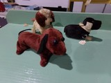 TWO WIND UP DOG TOYS AND ONE PLAY DOG MADE IN OCCUPIED JAPAN