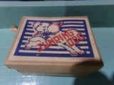 WIND UP JUMPING DOG TOY IN ORIGINAL BOX MADE IN OCCUPIED JAPAN