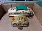 WIND UP TIN TOY LEARN TO DRIVE SAFE CAR MADE BY MAR AND WIND UP TIN TOY AMB