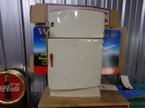 ANTIQUE TOY REFRIGERATOR BY WOLVERINE APPROXIMATELY 13 INCH BY 8 INCH