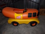 TOY PEDAL OSCAR MAYER WIENERMOBILE APPROXIMATELY 46 INCH LONG BY 21 INCH WI