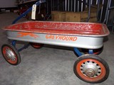 VINTAGE GREYHOUND WAGON METAL 36 X 17