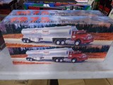 FOUR NEW IN BOX 1975 TEXACO TOY TANKER TRUCKS