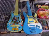 LOT OF TWO MICKEY MOUSE GUITARS AND MICKEY TRONICS SING ALONG FM RADIO