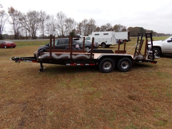 #301 2011 TRAILER 20' TANDEM AXLE 2' BEAVER TAIL AND 5' RAMPS