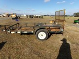 #2801 DIAMOND TRAILER 5 X 10 WITH RAMP GATE SINGLE AXLE NO TITLE