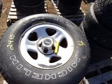 #2415 4 USED MICHELIN LTX MS P235 75R15 ON JEEP 5 LUG WHEELS