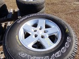 #2417 4 NEW GOODYEAR WRANGLERS SRA P255 75R17 ON JEEP 5 LUG WHEELS