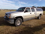 #3508 2003 CHEVROLET 4 WD DURAMAX DIESEL 2500 HD CREW CAB LONG BED 167405 M