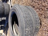 #2406 2 LIKE NEW BRIDGESTONE RADIALS V STEEL RLB 187 12 PLY 8R19.5